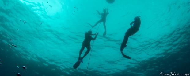 Тренировка в море