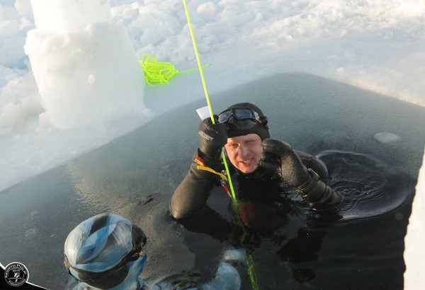 Фридайвинг на Северном Полюсе Земли