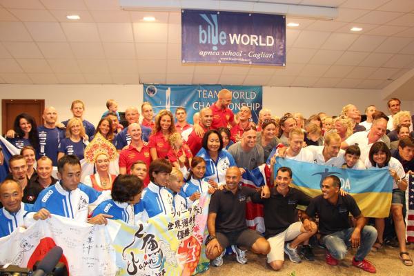 Команды-участницы чемпионата мира по фридайвингу 2014.