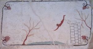 Фреска с древними ныряльщиками